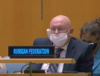 Evidently the Russian Federation rep needed some air!